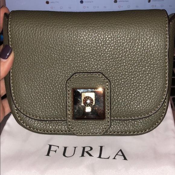 Furla Olive Green Crossbody Bag